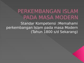 perkembangan islam pada masa modern.pptx