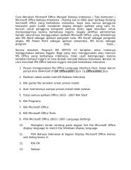 Cara Merubah Microsoft Office Menjadi Bahasa Indonesia.docx