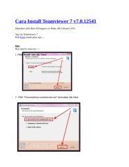 Cara Install Teamviewer 7.docx