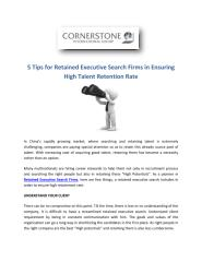 5 Tips for Retained Executive Search Firms in Ensuring High Talent Retainment Rate.PDF