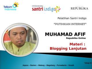 Blog Advanced - M Afif.pps