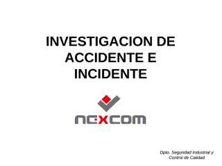 10. Investigación de Incidentes e Accidente.ppt