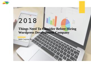 Things need to consider before hiring a wordpress website development company.pptx