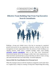 Effective Team Building Tips From Top Executive Search Consultants.pdf
