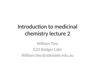 medicinal chemistry lecture 2 .pptx